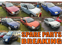 7 CARS BREAKING 4 SPARES - KA + FIESTA + BORA + MEGANE + WAGON R+ + SEICENTO + ROVER 25