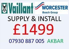 BOILER INSTALLATION, Back boiler & hot WATER CYLINDER REMOVED, Gas safe under floor heating & PLUMB