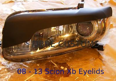 Made to fit xB Scion Eyelids 08 09 10 11 12 13 Headlight HID