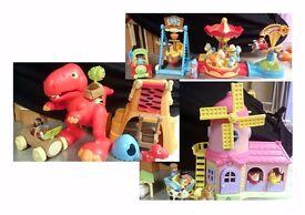 ELC Happyland Sets - Dinosaur, Windmill & Funfair