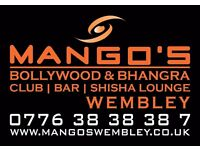 Urgent Hospitality / Waitress Staff Required For a Bollywood Opened Club/Bar in Wembley London