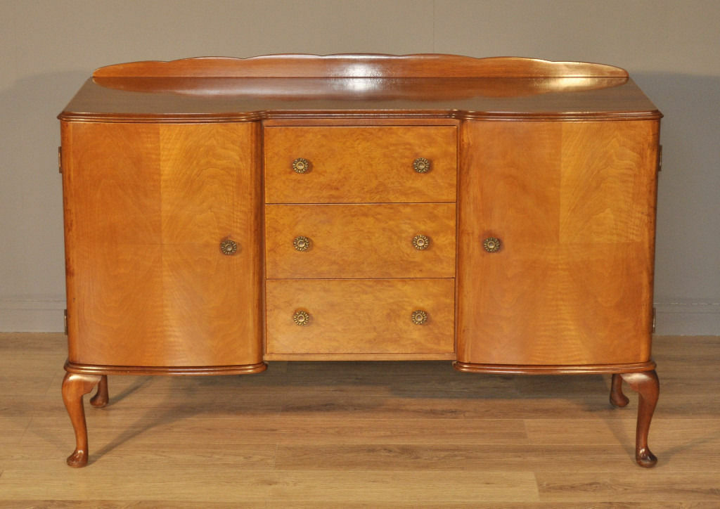 Attractive Large Vintage Queen Anne Style McIntosh Walnut Sideboard Cabinet