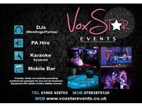 Wedding & Party DJs | PA Hire | Karaoke | Mobile Bars - VoxStar Events & Entertainment Services