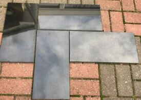 NEW GRANITE FLOOR OR WALL TILES, STUNNING BLACK GLOSS, BARGAIN ONLY £3 EACH CAN DELIVER