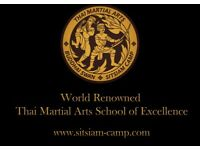 Classes in Muay Thai (Thai Boxing) and Thai Martial Arts, Sitsiam Camp, Kru Tony Moore.