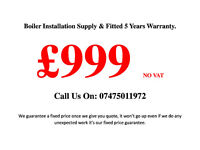 Boiler Installation Supplied & Fitted £999 NO VAT MAIN ECO ELITE 25KW (5 Years warranty) 07475011972
