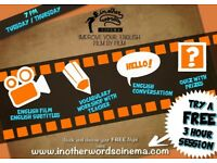 Practice your English and meet new people with Cinema! FREE TRIAL CLASS/LESSON