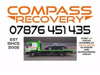 CAR VEHICLE RECOVERY GLASGOW == COMPASS RECOVERY