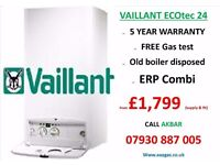 £1799 combi boiler installation,VAILLANT,central heating,tank removed,BOILER REPAIR,GAS CERTIFICATE,