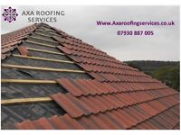 NEW ROOF , leaking roof repairs, NEW PITCH ROOF TILES, NEW FLAT ROOF FELT, fibre glass roof