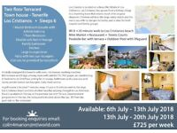 Two Floor Terraced Town House - Los Cristianos - Tenerife - sleeps 6