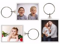 Two Photo holder key rings. (with photos of your choice). £4