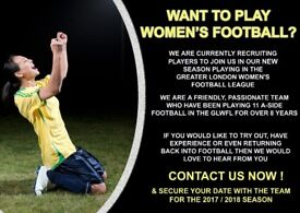 LADIES FOOTBALL TEAM - NEW PLAYERS REQUIRED (ESP A STRIKER)