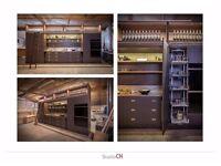 Handmade bespoke small kitchen, Wolf, Sub Zero, similar to Bulthaup, Boffi, Smallbone etc..