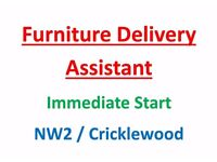 Furniture Delivery Assistant - London NW2 - Immediate Start.