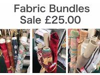 £1 Per Metre Fabric Rolls Huge Clearance!