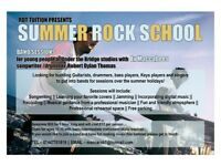 Summer Rock School (with ex - The Maccabees drummer/founder)