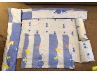 Bed cot set: sheet and duvet