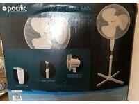 ELECTRIC FAN free standing adjustable 16 inch PEDESTAL FAN brand new & boxed 3 SPEED SETTINGS