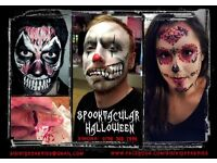 HALLOWEEN~PROFESSIONAL FACE PAINTER~SPECIAL FX~MAKE UP~FAKE WOUNDS