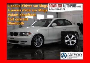 2011 BMW 1 Series 128i Coupe Sport Pkg *Cuir Rouge, Toit ouvrant