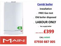 £399 combi boiler installation,replacement,swap,back boiler removed,central heating,underfloor heat