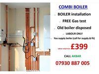 £399 BOILER replacement,installation,swap,relocate,PLUMBING,HEATING,COOKER,HOB,GAS CERT,back boiler