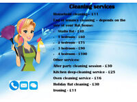 Professional cleaning - including domestic cleaning, end of tenancy cleaning and other services.