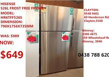 HISENSE HR6TFF526S 526L Top Mount FRIDGE OPEN 7DAYS/WEEK Broadmeadows Hume Area Preview