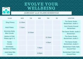NEW 2018 Class Schedule for Mum's & Baby, families and individuals in Beckenham