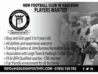 New youth football team