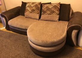 3 Seater and 2 Seater DFS Sofa - Brown fabric