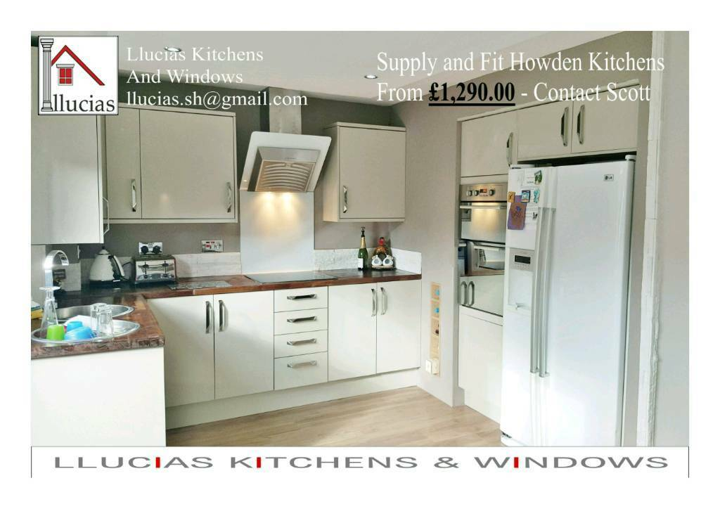 Superb SUPPLY + FIT HOWDENS Kitchen From £1290, Quality At Llucias Kitchen Fitters