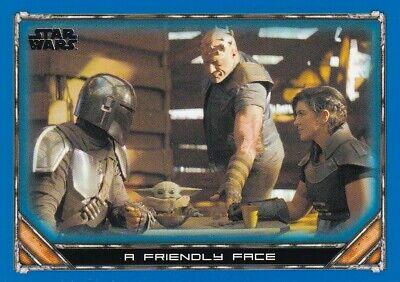 2020 Star Wars The Mandalorian Season 1 Blue #79 A Friendly Face