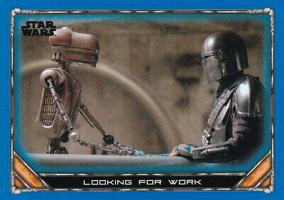 2020 Star Wars The Mandalorian Season 1 Blue #56 Looking for Work
