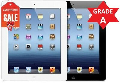 Apple iPad 3 WiFi + GSM Unlocked | 16GB 32GB 64GB | Black or White | GREAT (R)