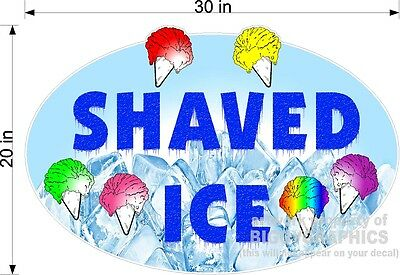 Vinyl Decal Shaved Ice Large For Wall Window Or Truck 20 X 30