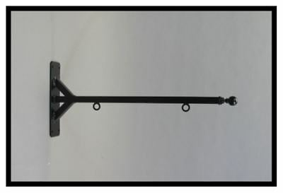 Straight Shaft Sign Bracket HEAVY DUTY IN 3 SIZES for Larger 2-Sided Signs Black (Black Sign Bracket)