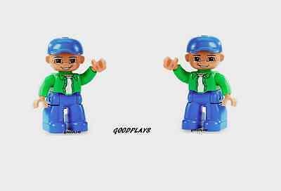 2 LEGO DUPLO Ville BOY Male Minifigures LOT new