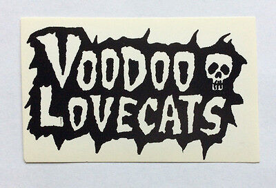 VOODOO LOVECATS - Black & White Logo Sticker NEW Merchandise Glam Aussie Punk](Voodoo Merchandise)
