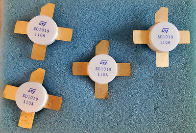 4 Stück, 4 pieces, SD1019 Power RF Transistor HF Transistor von STMicrosemi NEU