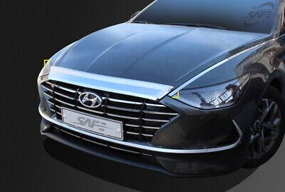 Bonnet Hood Guard Chrome Front Garnish Deflector D-418 for Hyundai Sonata 2020+