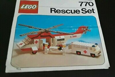 Lego 770 Vintage LegoLand (1976) Hospital Rescue. Used, instructions, no box.