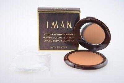 Iman Luxury Pressed Powder Clay Meduim Dark 10g