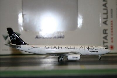 JC Wings 1:400 Egypt Air Airbus A330-200 SU-GCK Star Alliance JC4234