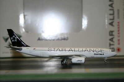 JC Wings 1:400 Egypt Air Airbus A330-200 SU-GCK Star Alliance JC4234