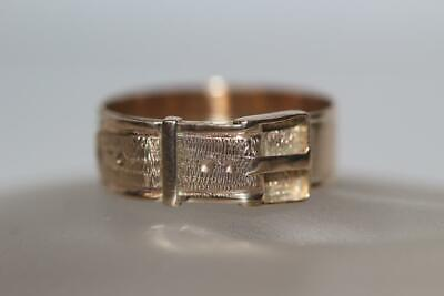 Fine 10K Yellow Gold Vintage Belt Buckle Band Wedding Ring Size 9 *2.5 Grams*