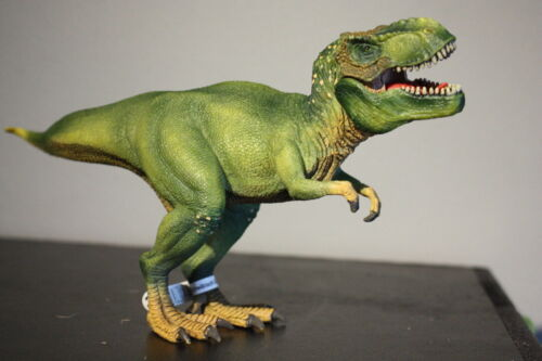 "Schleich 11"" Green Tyrannosaurus T-Rex Dinosaur Figure with Movable Jaw  D-73508"