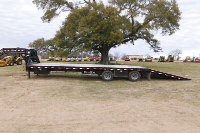 Pj Trailer Hd 37ft Flatdeck With Hydraulic Dove Tail 12000 Hyddisk Loaded
