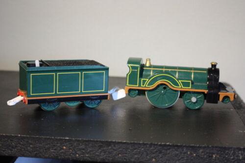 Thomas Train & Friends Motorized Green Emily w/ Coal Tender 2004 WORKS